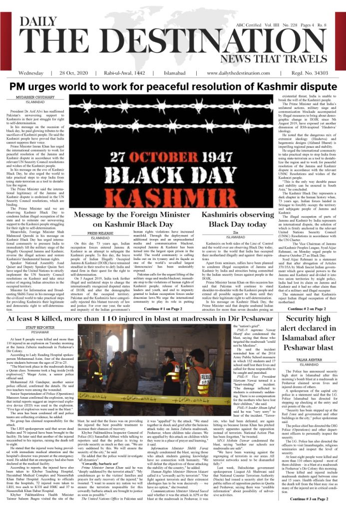 Daily the Destination - ePaper 01 - 28 Oct 2020