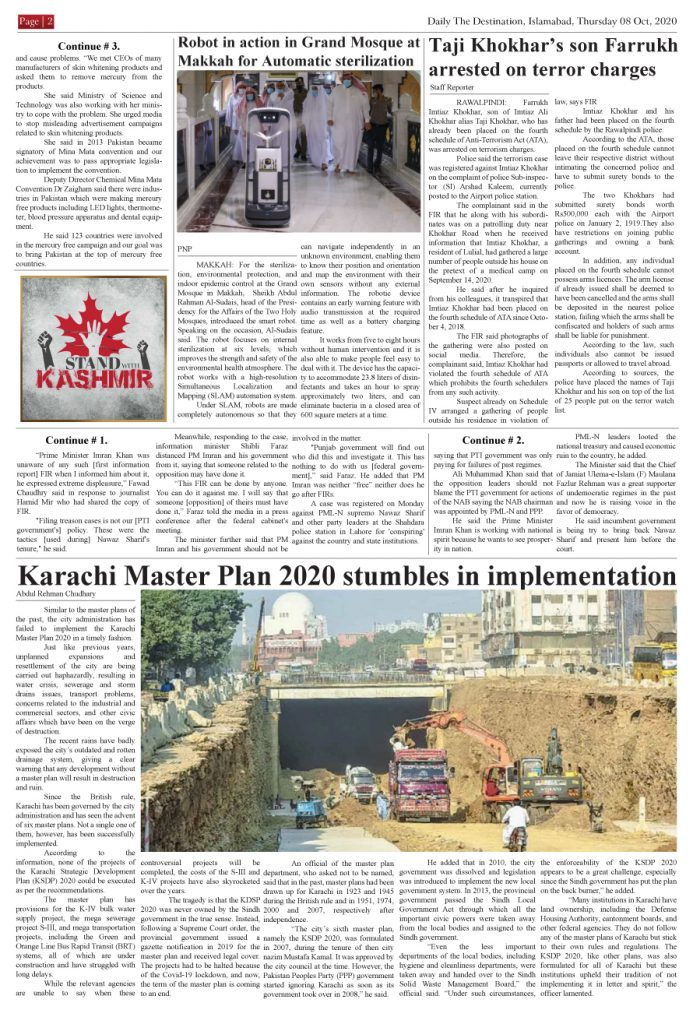 Daily the Destination ePaper - Page 02, 07 Oct 2020