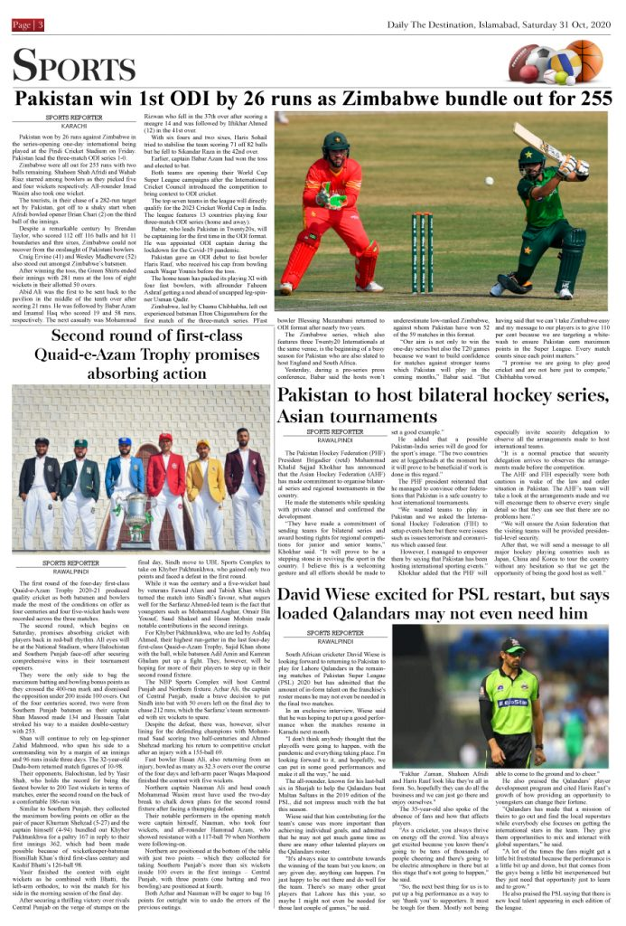 Daily the Destination - ePaper 03 - 31 Oct 2020