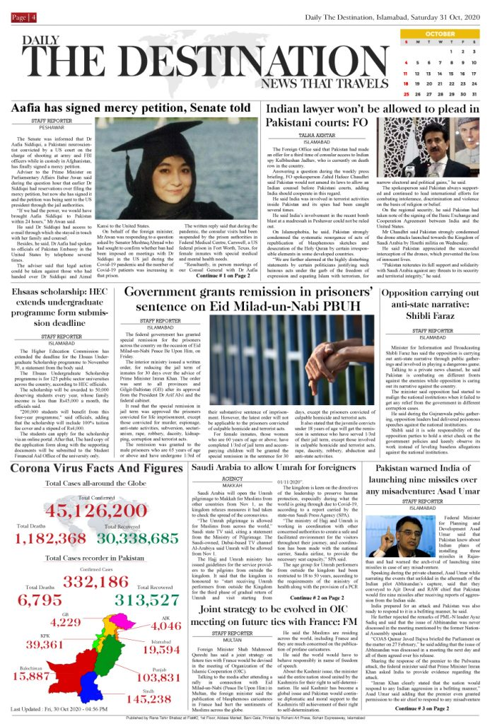 Daily the Destination - ePaper 04 - 31 Oct 2020
