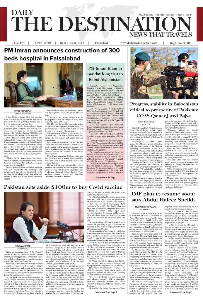 Daily the Destination - ePaper 01 - 19 Nov 2020