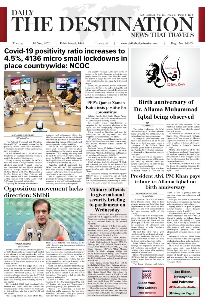 Daily the Destination - ePaper 01 - 09 Nov 2020