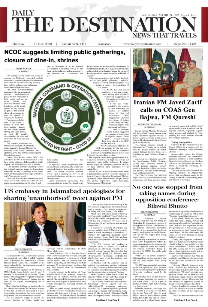 Daily the Destination - ePaper 01 - 12 Nov 2020