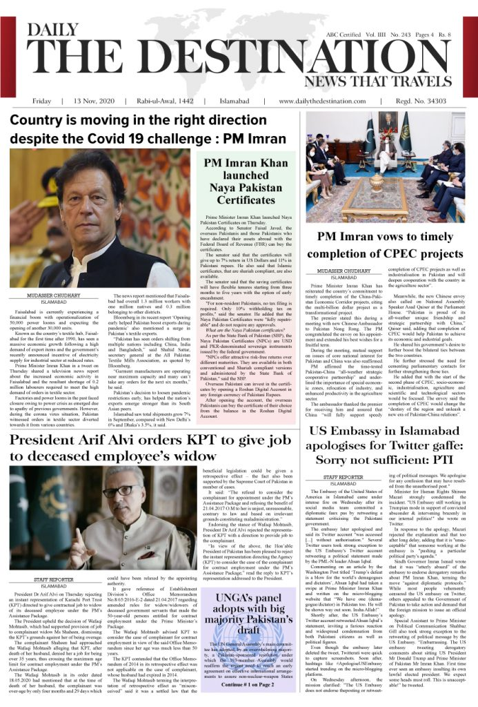 Daily the Destination - ePaper 01 - 13 Nov 2020
