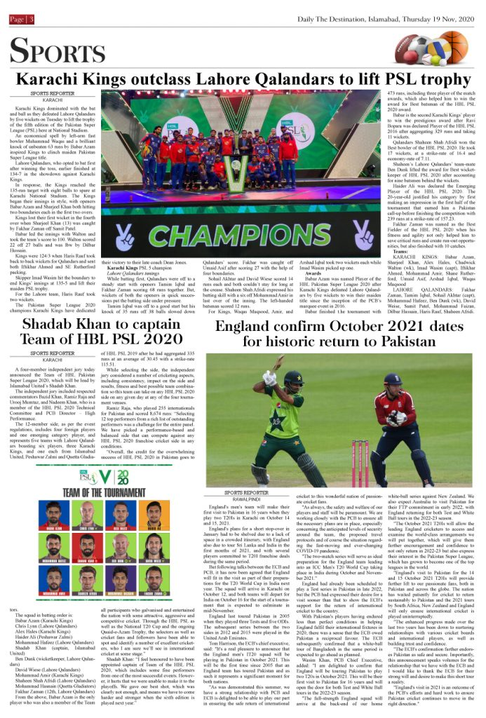 Daily the Destination - ePaper 03 - 19 Nov 2020