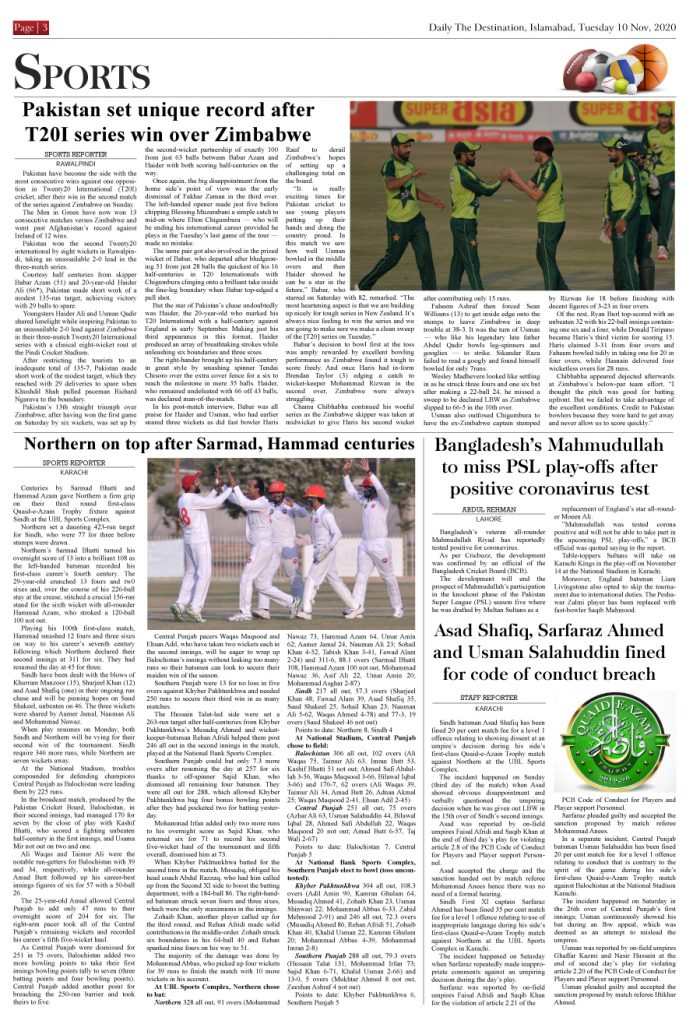 Daily the Destination - ePaper 03 - 09 Nov 2020