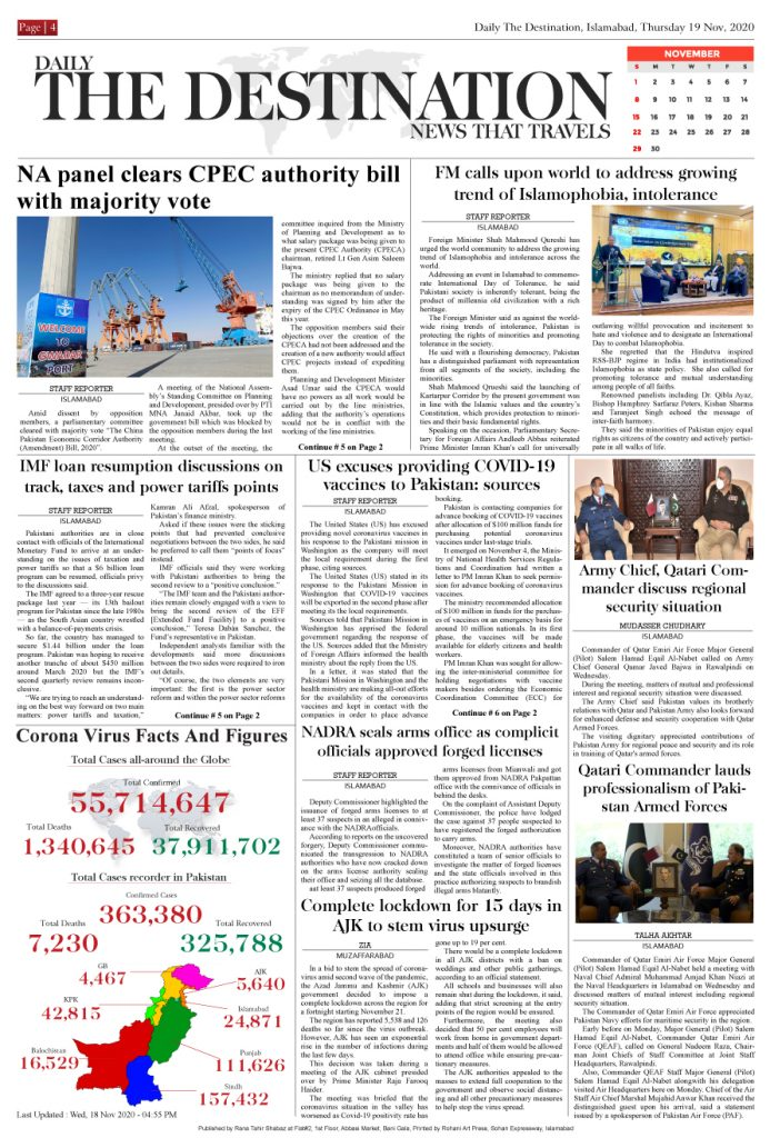 Daily the Destination - ePaper 04 - 19 Nov 2020