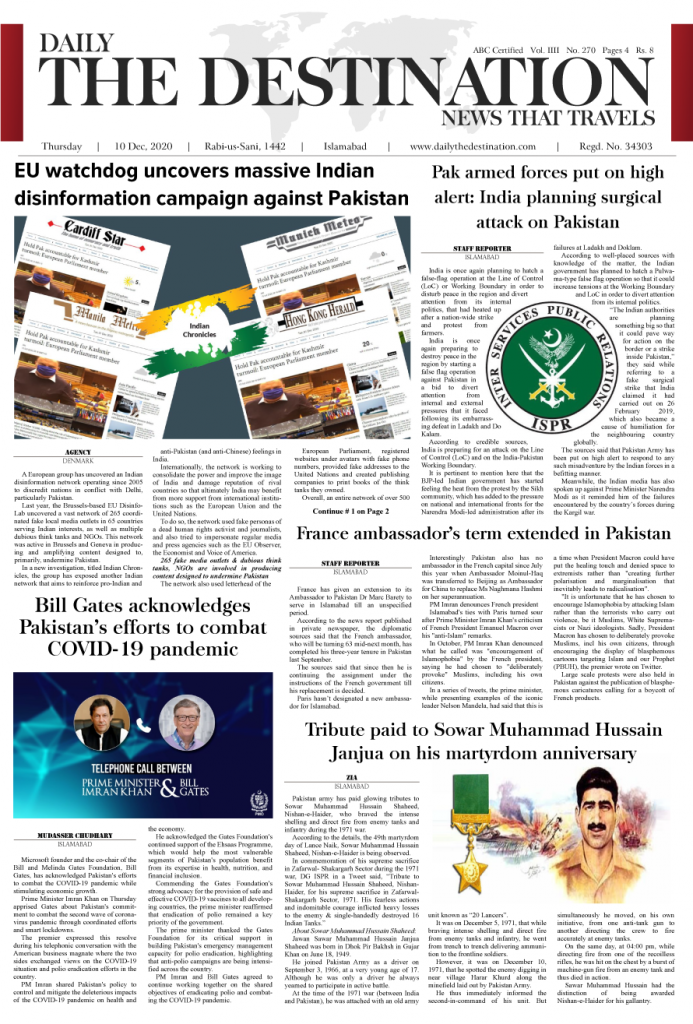 Daily the Destination - ePaper 01 - 11 Dec 2020