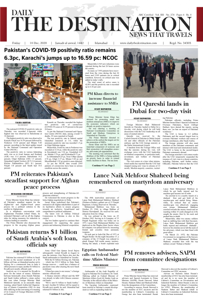 Daily the Destination - ePaper 01 - 18 Dec 2020