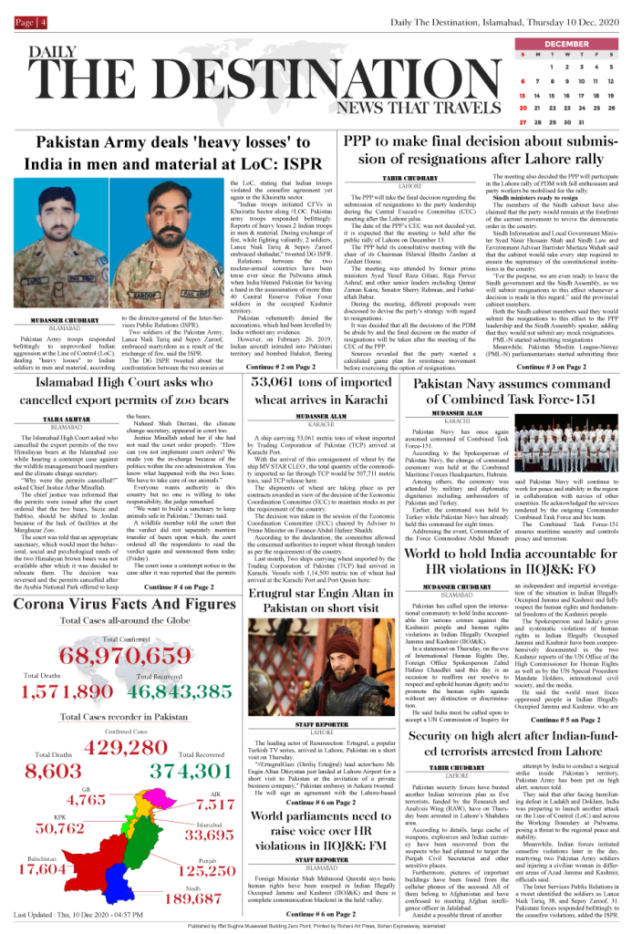 Daily the Destination - ePaper 04 - 11 Dec 2020