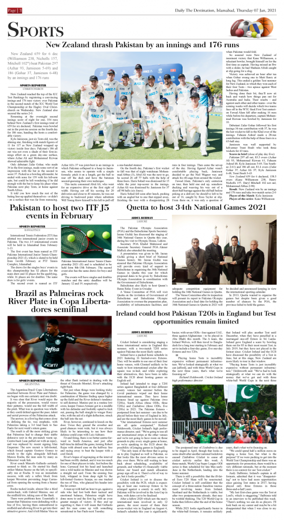 Daily the Destination - ePaper 03 - 07 Jan 2021
