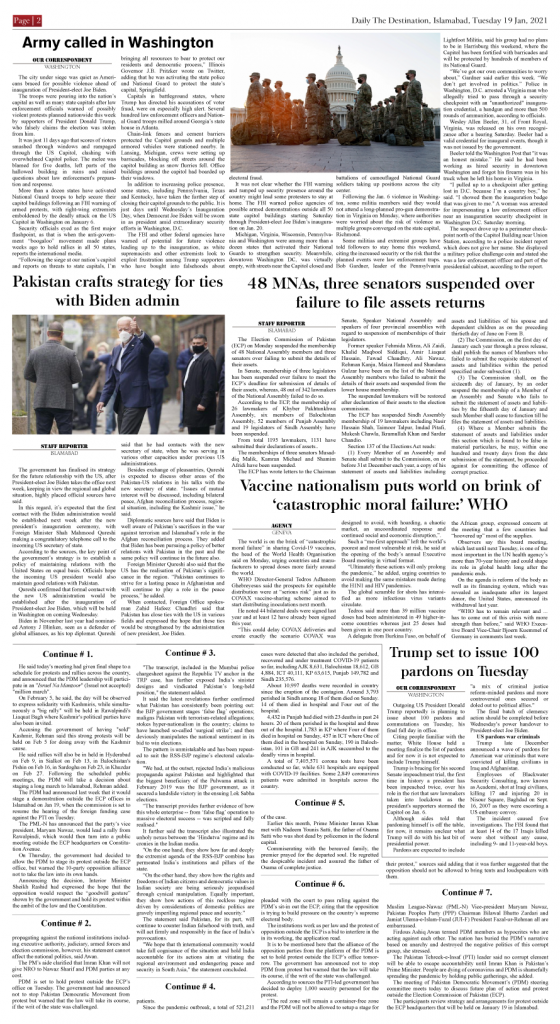 Daily the Destination - ePaper 02 - 19 Jan 2021
