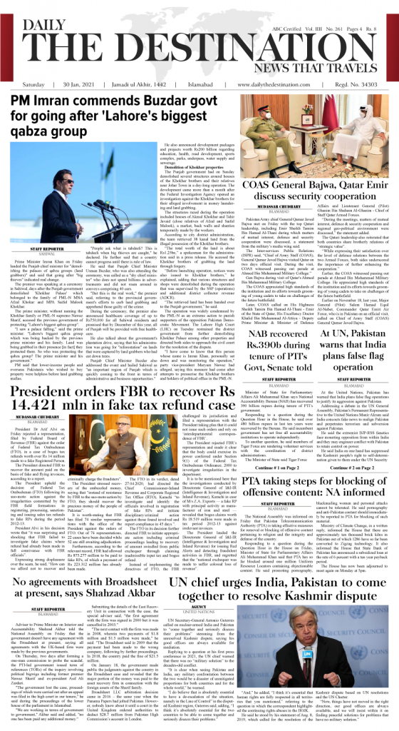 Daily the Destination - ePaper 01 - 30 Jan 2021