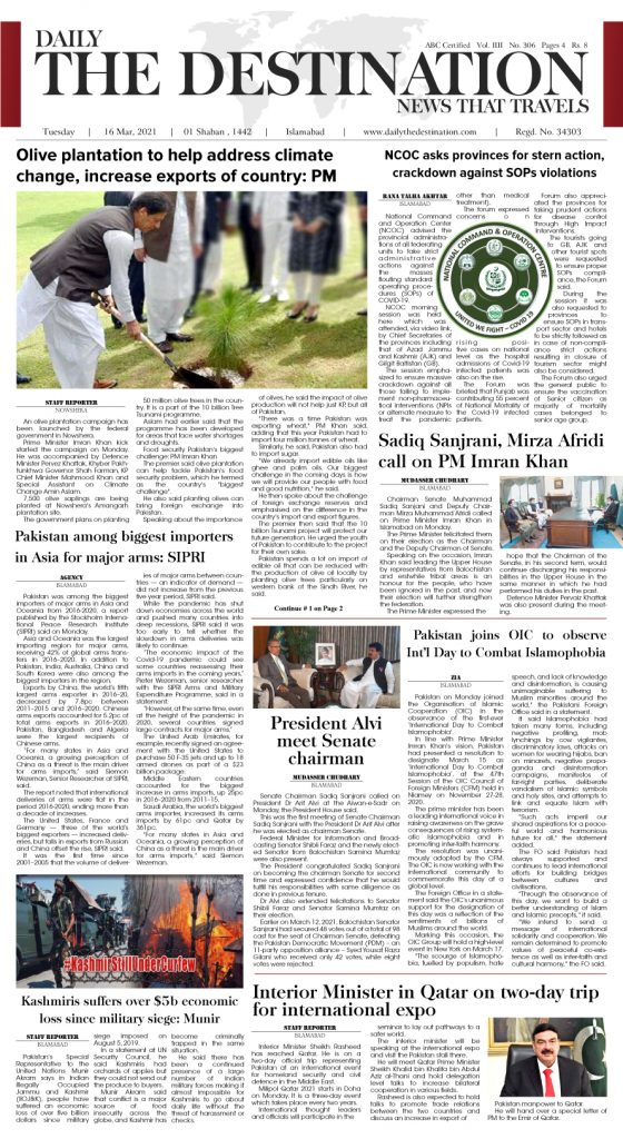 Daily the Destination - ePaper 01 - 16 Mar 2021