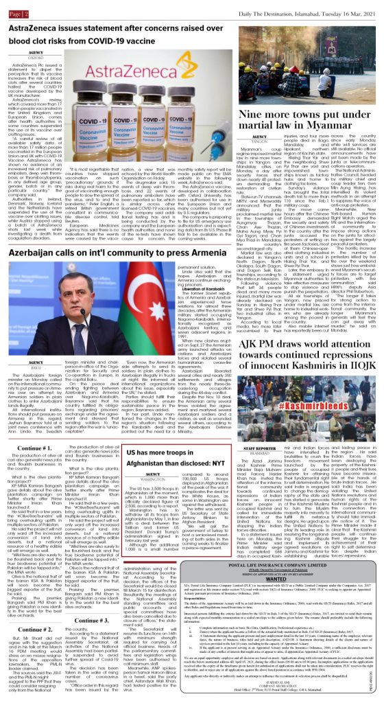 Daily the Destination - ePaper 02 - 16 Mar 2021