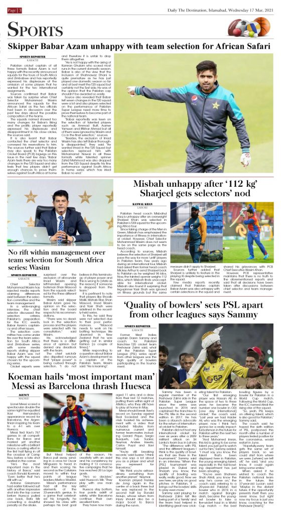 Daily the Destination - ePaper 03 - 17 Mar 2021