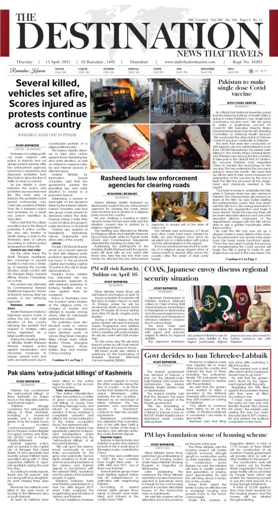Daily the Destination - ePaper 01 - 15 Apr 2021