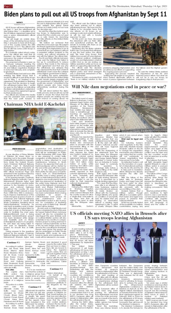 Daily the Destination - ePaper 02 - 15 Apr 2021