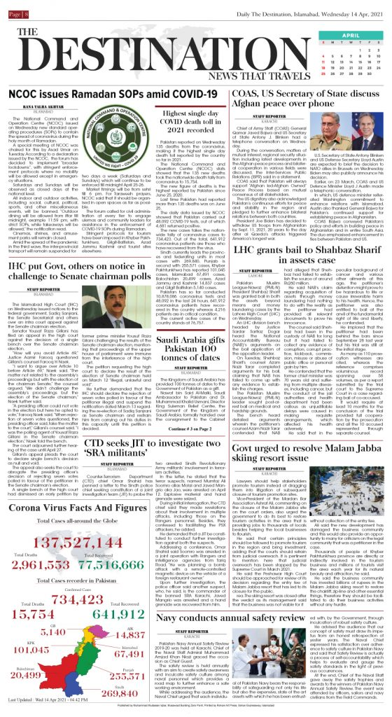Daily the Destination - ePaper 08 - 15 Apr 2021