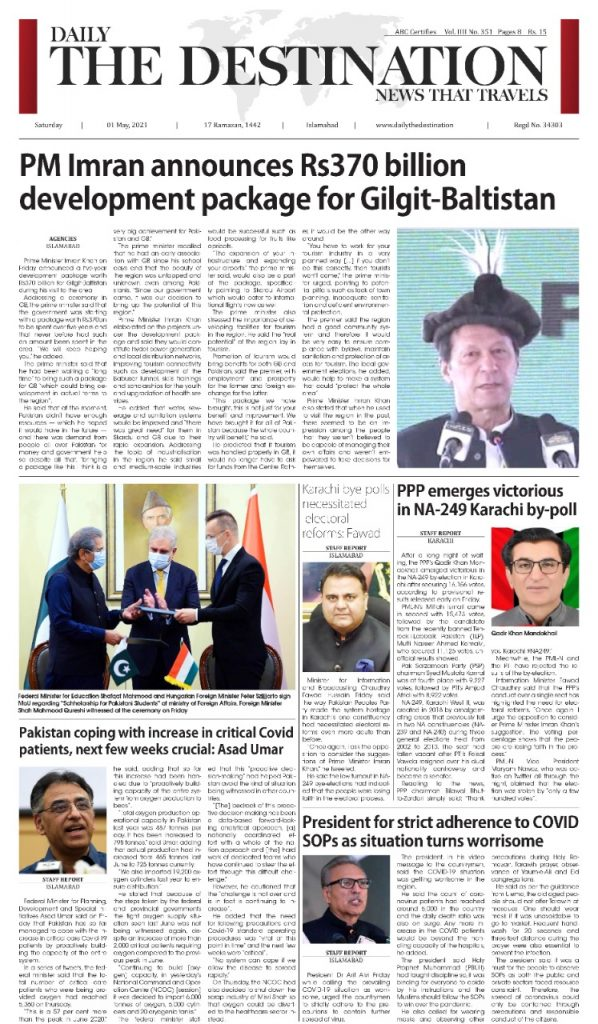 Daily the Destination - ePaper 01 - 01 May 2021