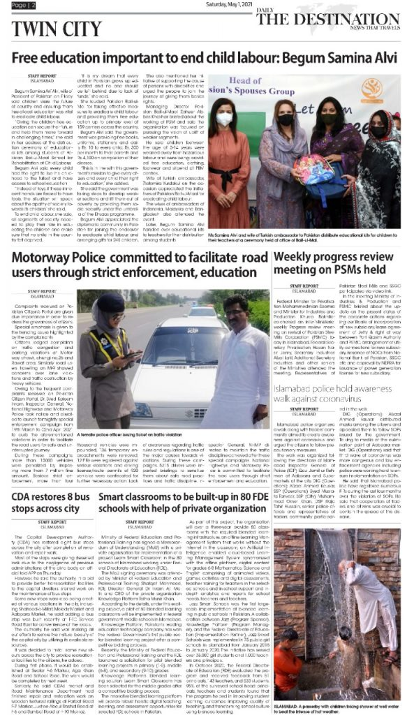 Daily the Destination - ePaper 02 - 01 May 2021