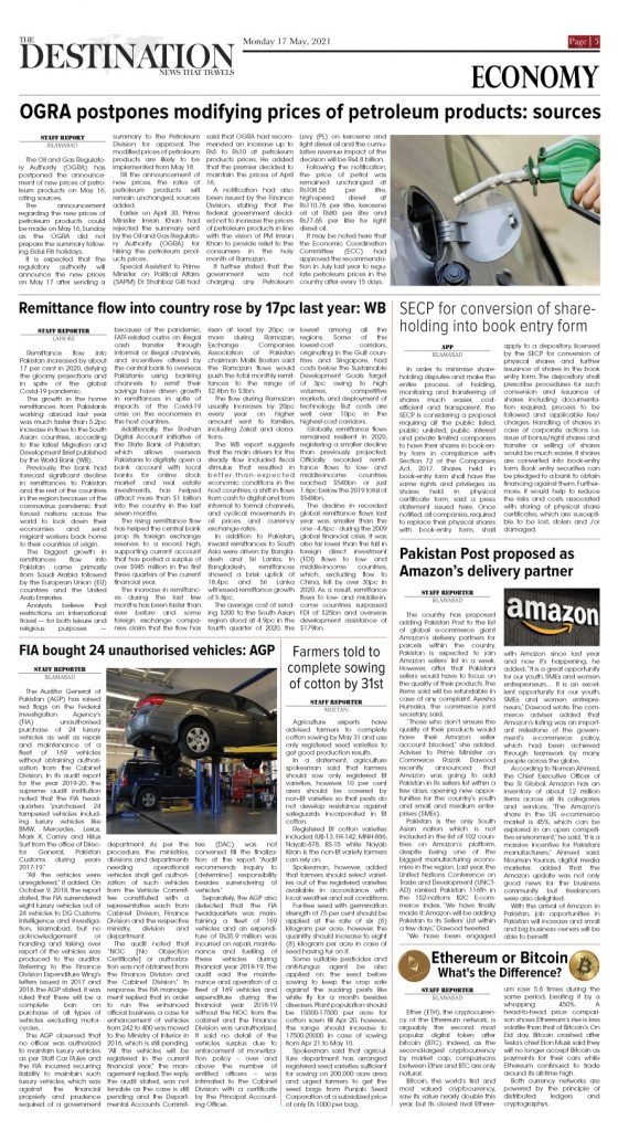 Daily the Destination - ePaper 05 - 17 May 2021
