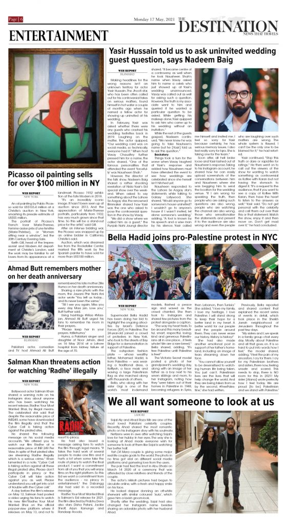 Daily the Destination - ePaper 06 - 17 May 2021