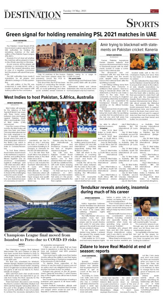 Daily the Destination - ePaper 07 - 18 May 2021