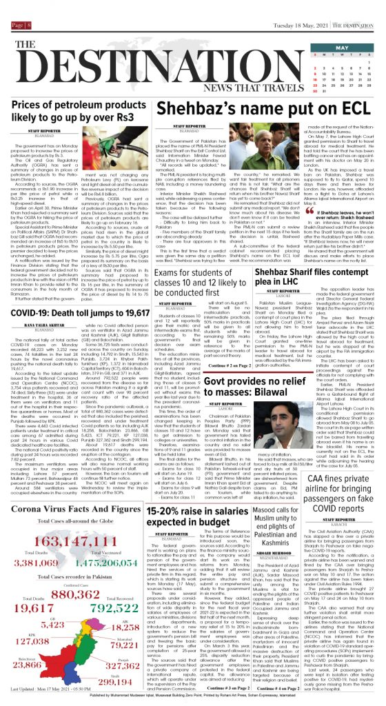 Daily the Destination - ePaper 08 - 18 May 2021