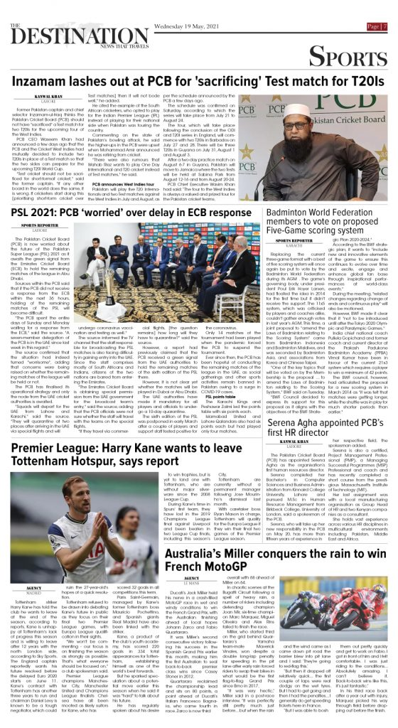 Daily the Destination - ePaper 07 - 19 May 2021