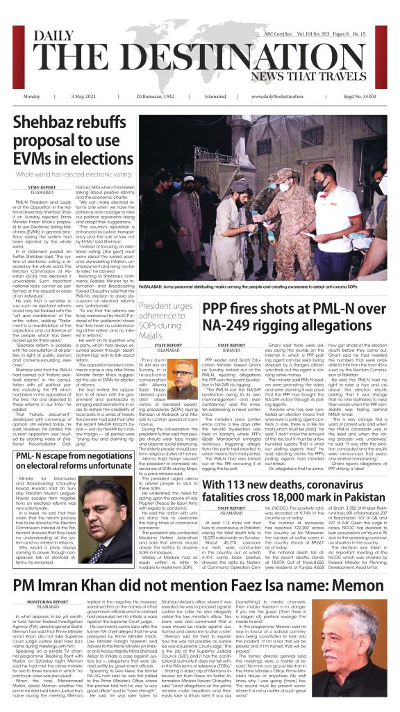 Daily the Destination - ePaper 01 - 03 May 2021