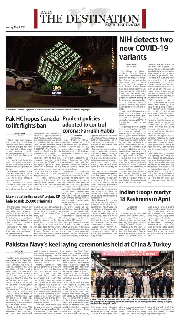 Daily the Destination - ePaper 08 - 03 May 2021