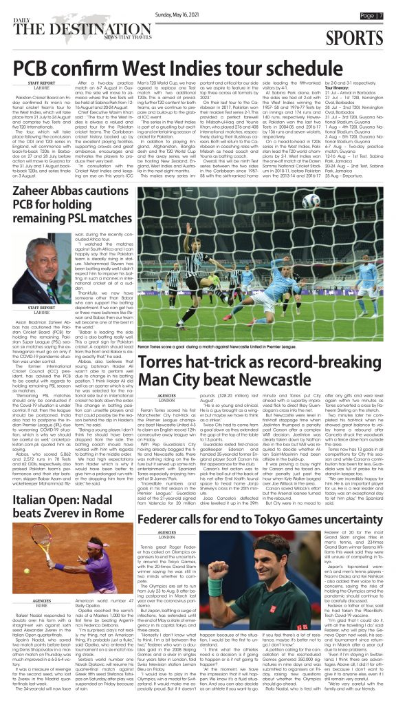 Daily the Destination - ePaper 03 - 16 May 2021