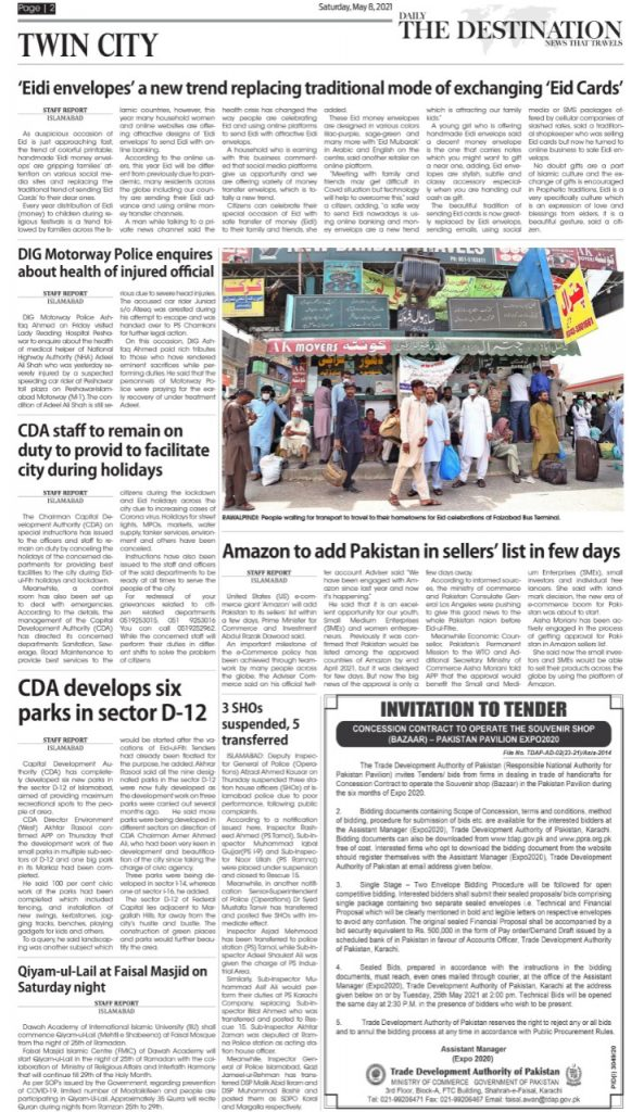 Daily the Destination - ePaper Twin City- 08 May 2021