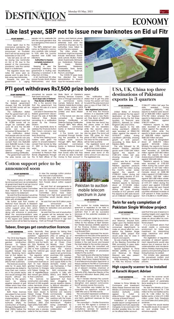 Daily the Destination - ePaper 05 - 03 May 2021